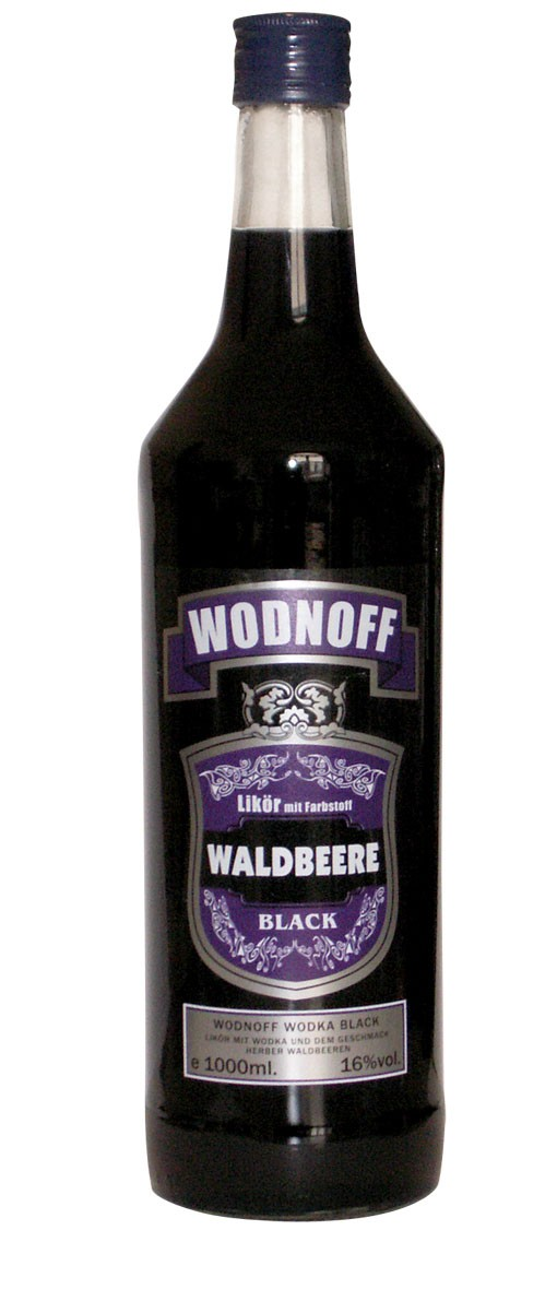 Wodnoff Black - Blackberry, 1,0 l